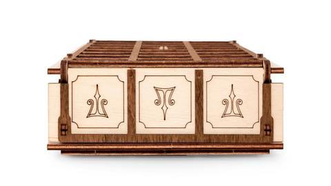 Гейм сет Ур и Сенет от Eco Wood Art (EWA) - Игровой набор с двумя древними настольными играми в одной коробке. Деревянный конструктор