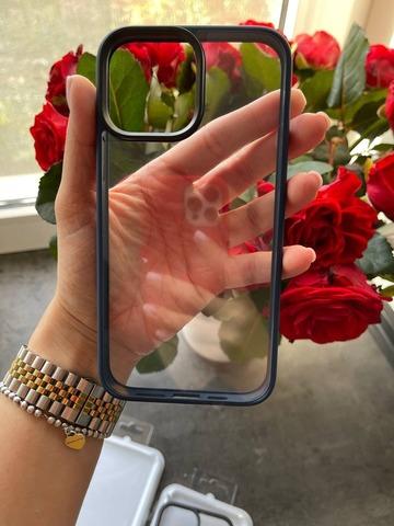 Чехол iPhone 13 Pro Max Rock Guard Series Clear /blue/
