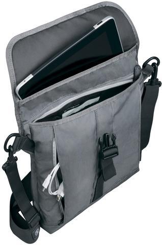 Сумка Victorinox Altmont 3.0 Flapover Bag, серая, 27x6x32 см, 5 л