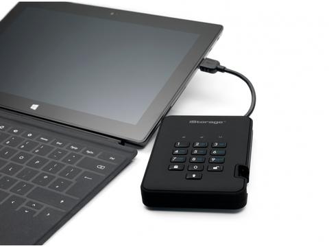 Защищенный внешний диск с пин-кодом DiskAshur2 SSD 256Gb