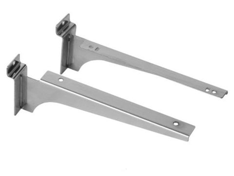Кронштейн для экономпанели (для полки) , толщина 1,5 мм хром , 250 мм ЭП 226