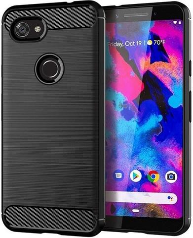Чехол на Google Pixel 3a цвет Black (черный), серия Carbon от Caseport