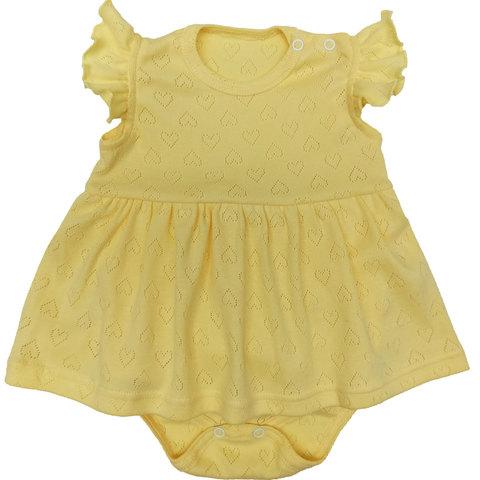 Папитто. Боди-платье Ажур, желтый