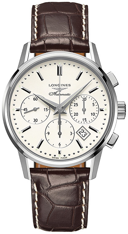he Longines Heritage Column Wheel Chronograph