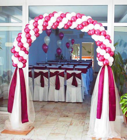 Арка Бордовая свадьба