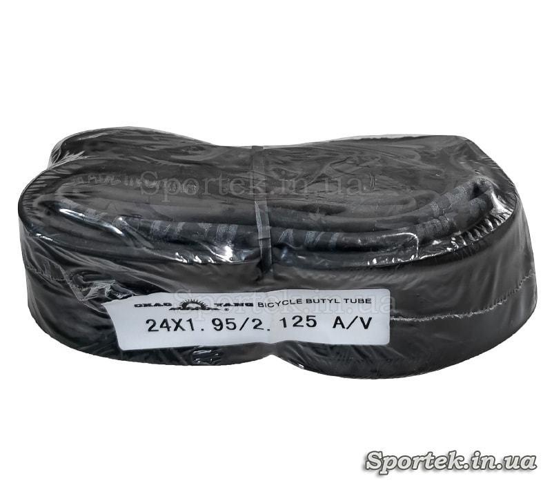 Велокамера ChaoYang 24 x 1.95/2.125 из бутила с автомобильным нипелем Shrader AV 35 мм