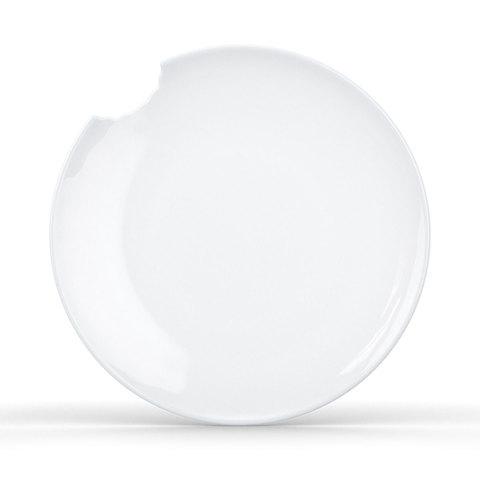 2 малые столовые тарелки Tassen со следом укуса, 15 см, белые