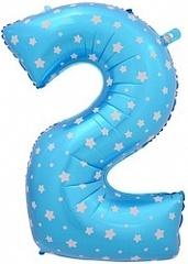 К Цифра 2, Синий, (40''/102 см) 1 шт.