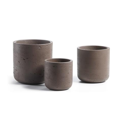 Набор из 3-х кашпо Lux коричневый