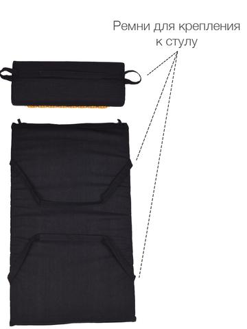 Набор массажный акупунктурный коврик + подушка Comfox (черный)