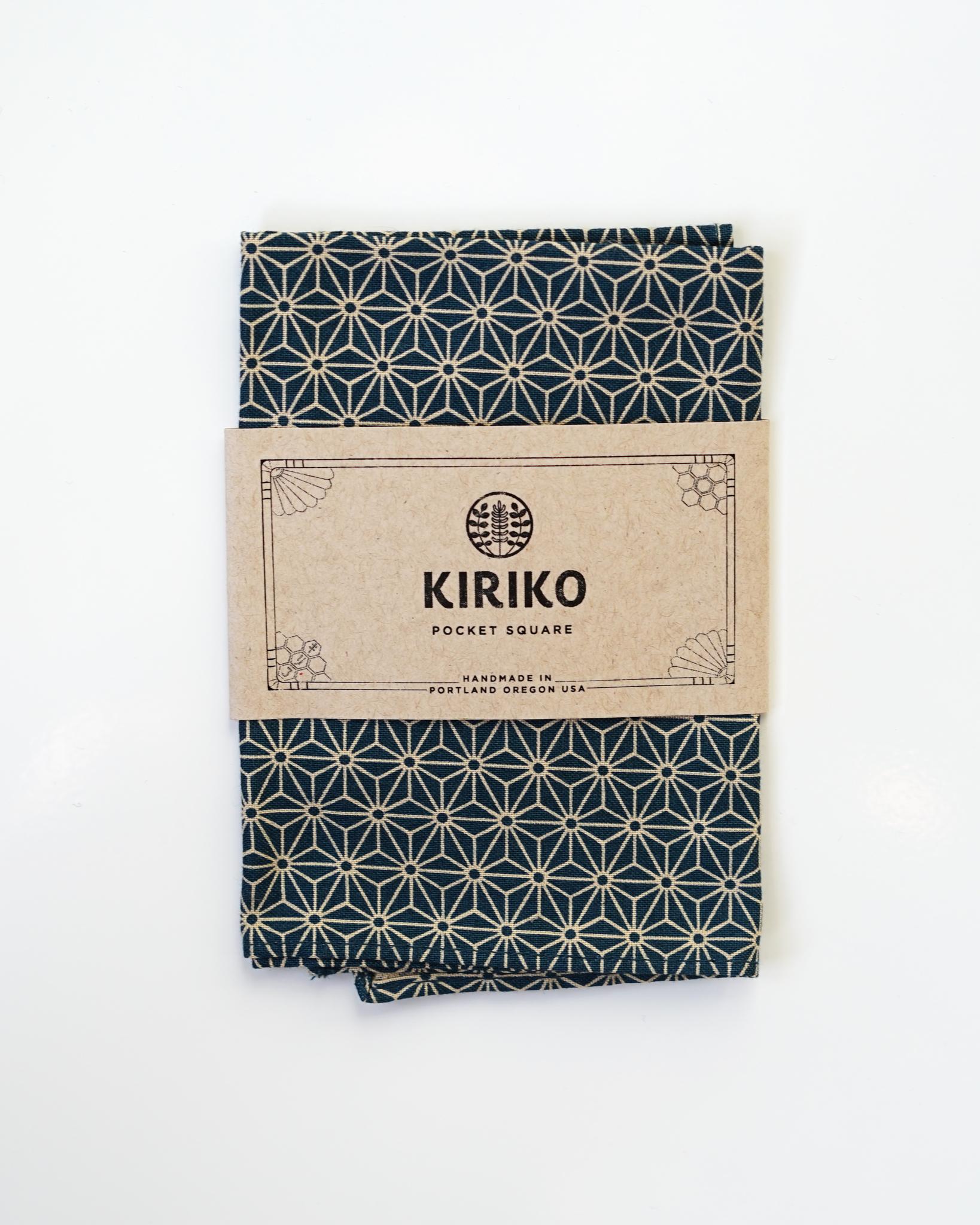 Kiriko Pocket Square Asanoha