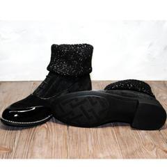 Ботильоны женские на низком каблуке Kluchini 5161 k255 Black