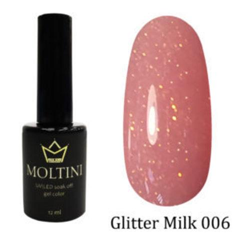 Гель-лак Moltini GLITTER MILK 006, 12 ml