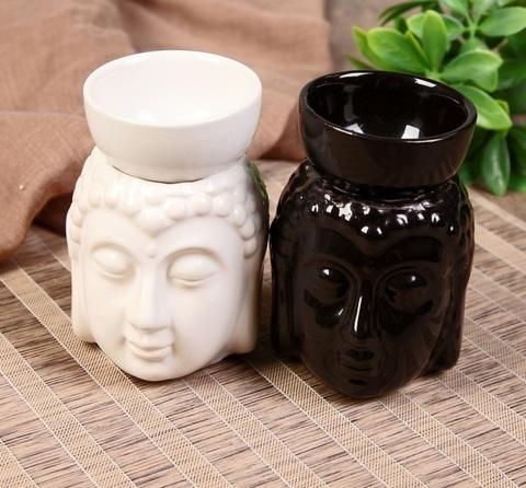 Аромалампа Будда с чашей на голове, керамика 11,5*8*9 см