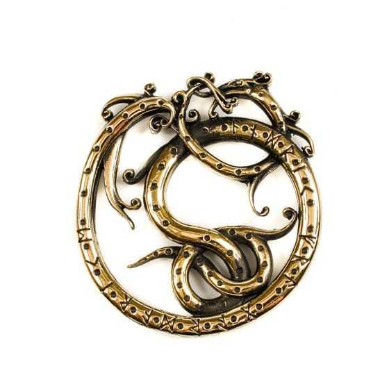 Необычные и яркие мужские украшения Змей Ермунганд ermungand.jpg
