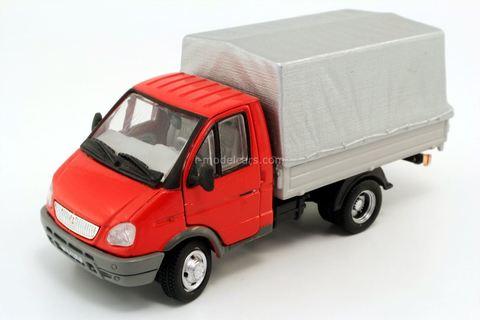 GAZ-3302 Gazelle red-gray Autobahn Cararama 1:50