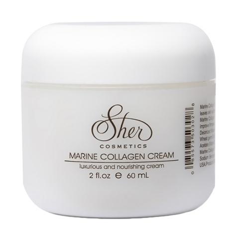 Sher Cosmetics: Крем с морским коллагеном для лица (Marine Collagen Cream), 60мл