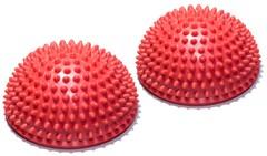 Полусфера Original FitTools массажно-балансировочная (набор 2 шт) красный