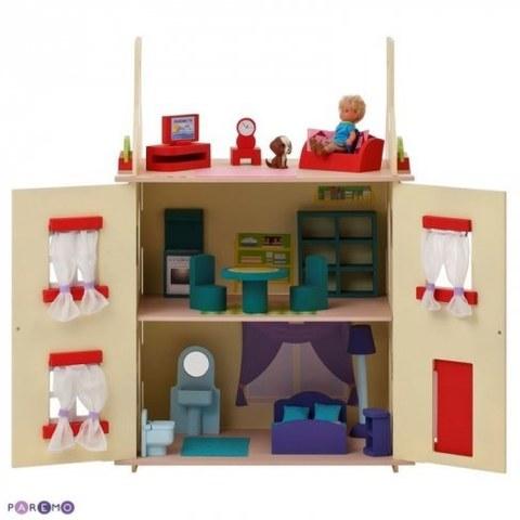 Кукольный домик Paremo София с 15 предметами мебели PD115-02