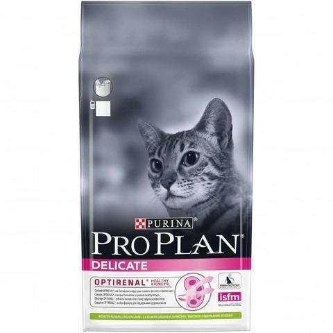 Сухой корм Purina Pro Plan Delicate для кошек с чувствительным пищеварением, ягненок