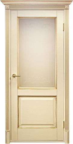 Дверь Дверной Лидер Катрин (молочный, остекленная, массив хвойных пород)