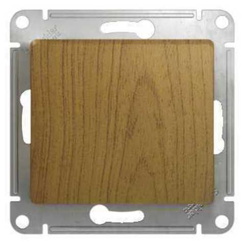 Выключатель одноклавишный, 10АХ. Цвет Дуб. Schneider Electric Glossa. GSL000511