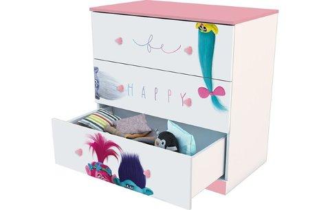Комод Polini kids Fun 3290 Тролли, розовый