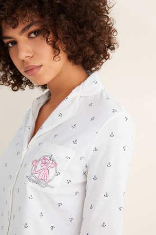 Піжама сорочкового типу з принтом «Якоря»