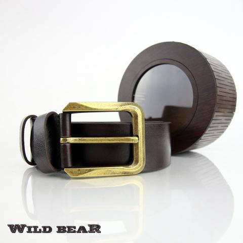 Ремень WILD BEAR RM-012f Brown Premium