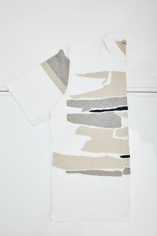 Cortigiani Поло трикотажное в абстрактный узор