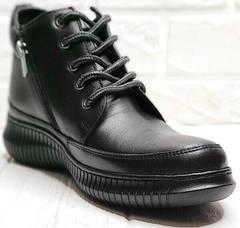 Модные кеды ботинки женские демисезонные Evromoda 535-2010 S.A. Black.