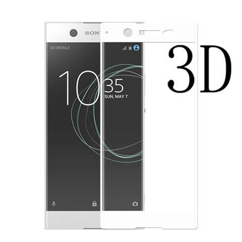 Защитное стекло 3D для Sony XA1 (Белое)