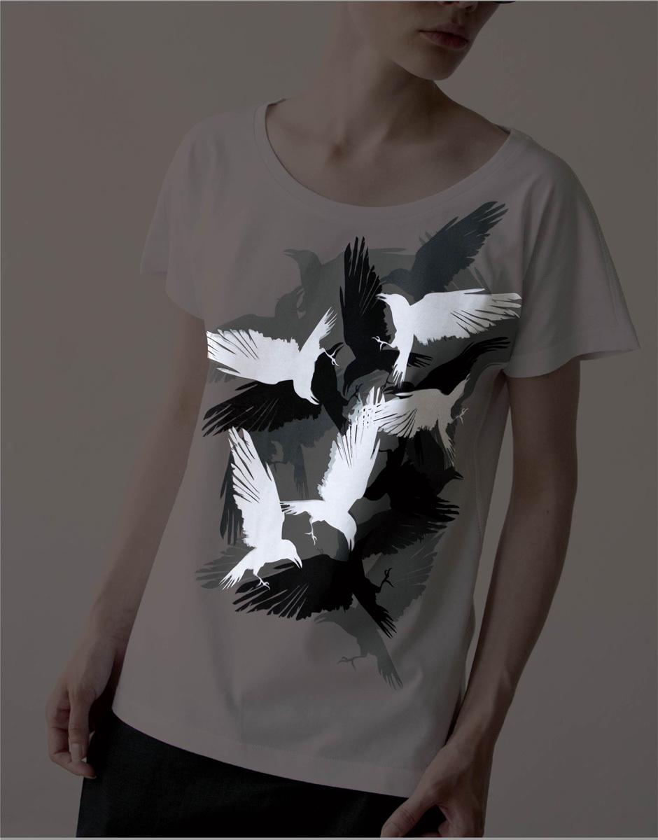 Женская футболка «Вороны»