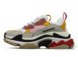 Кроссовки Женские Balenciaga Triple S Grey Pink Yellow