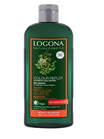 Шампунь для рыжих и коричневых волос волос с Хной 250 мл (LOGONA)