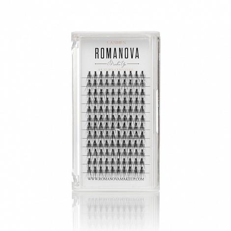 Ресницы пучки Romanovamakeup серия M 120шт