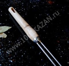 Шумовка-паук с деревянной ручкой, d=14см