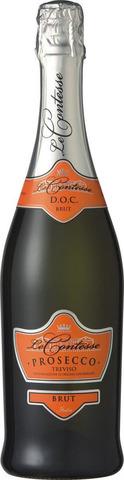 Вино игристое защ наим.Ле Контессе-Просекко Тревизо брют 11* Алкомаркет 0,75л
