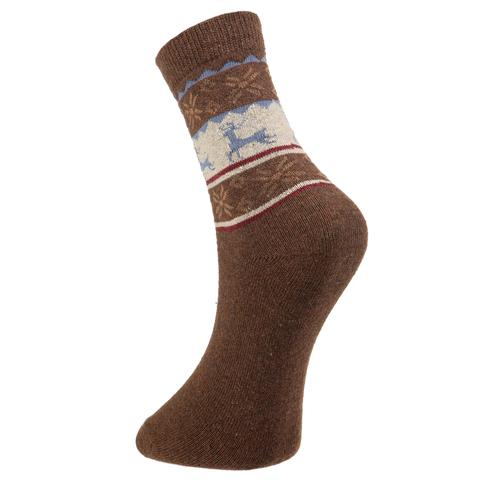 Мужские носки коричневые ROMEO ROSSI с шерстью 8044-15