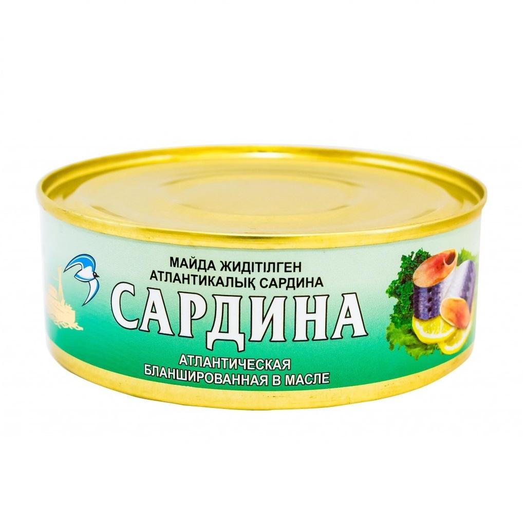Сардина в масле (кублей) 240 гр
