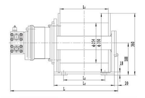 Стандартная лебедка IYJ2.5-5-93-10-ZP