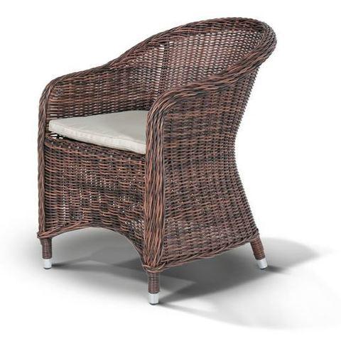 Плетеное кресло Равенна, темно-коричневого цвета
