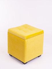 Пф-400-Я Пуфик квадратный (желтый) с ящиком для хранения