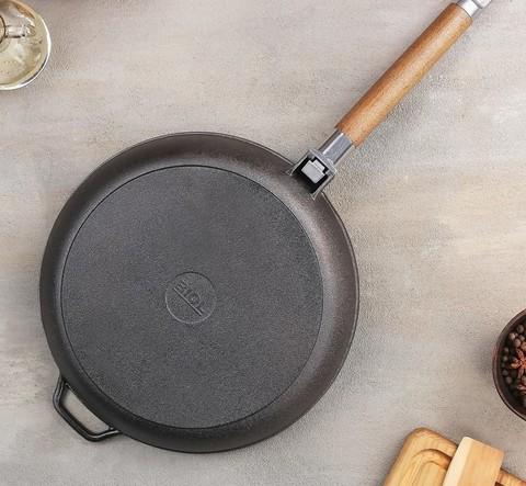 Сковорода чугунная, d=26 см
