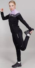 Утепленный женский лыжный костюм Nordski Drive Black-Orchid W