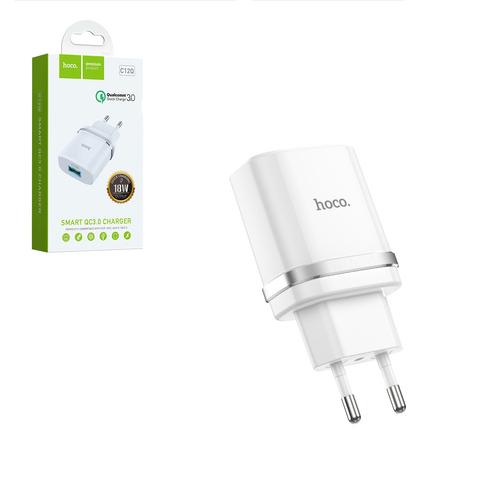 Зарядное устройство Hoco USB 3A QC3.0 белое