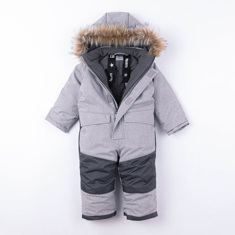 Winter membrane jumpsuit with enlargement system - Gray