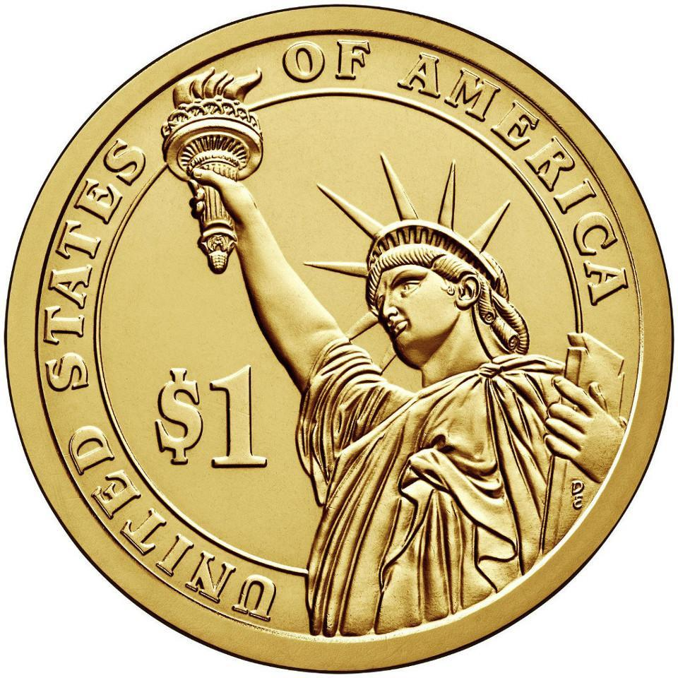 1 доллар 13-й президент США Джеймс Миллард Филлмор 2010 год