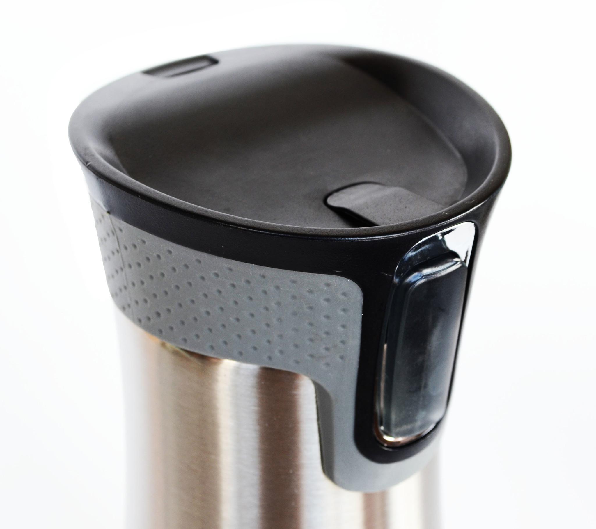 Термокружка Muggs Button 450 мл. серебристая