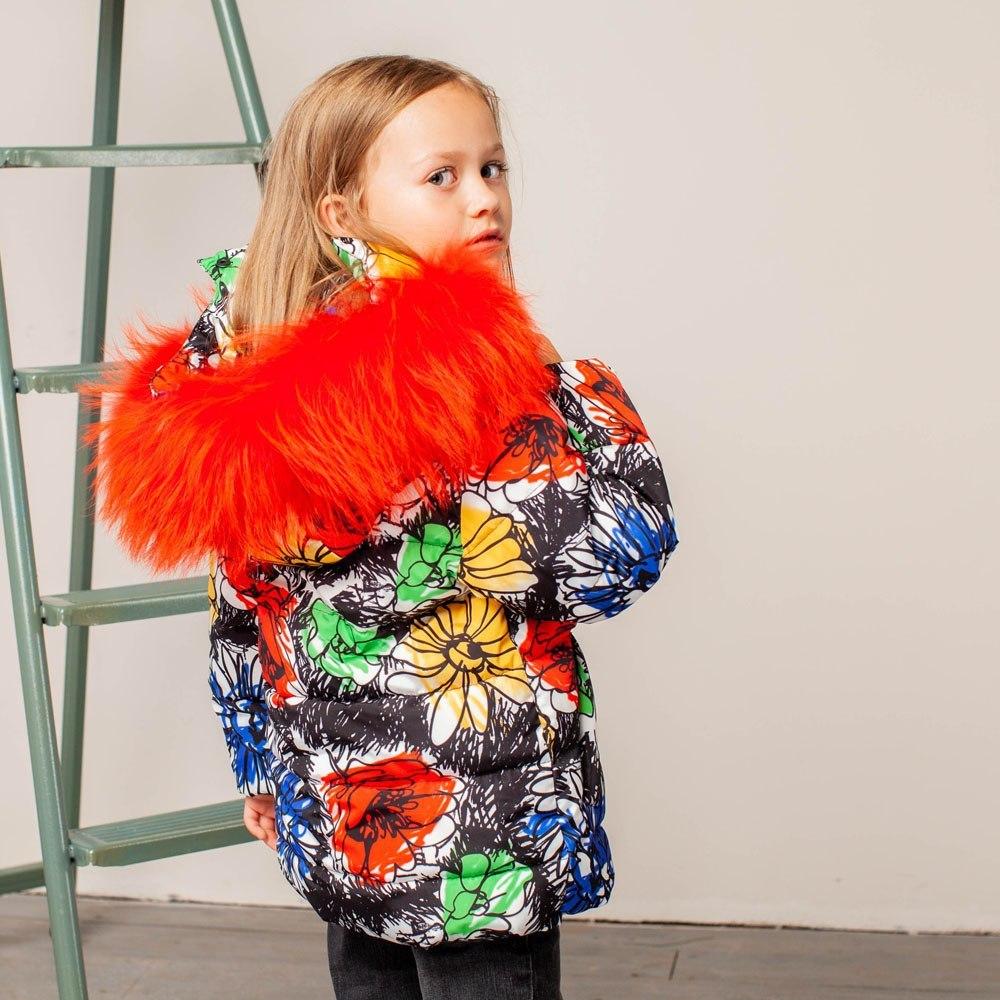 Дитяча зимова куртка з авторським принтом